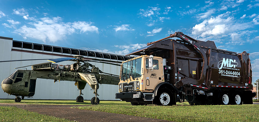 MDI proudly serves many government facilities with front load and roll-off services