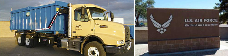 MDI Provides Roll-off Services for Kirtland AFB