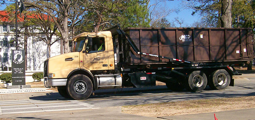 MDI Roll-off Truck On Drop-off Route
