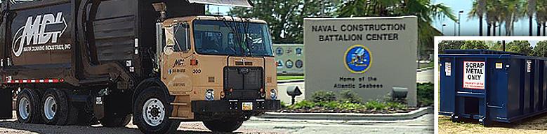 NCBC Gulfport service including scrap metal pickup