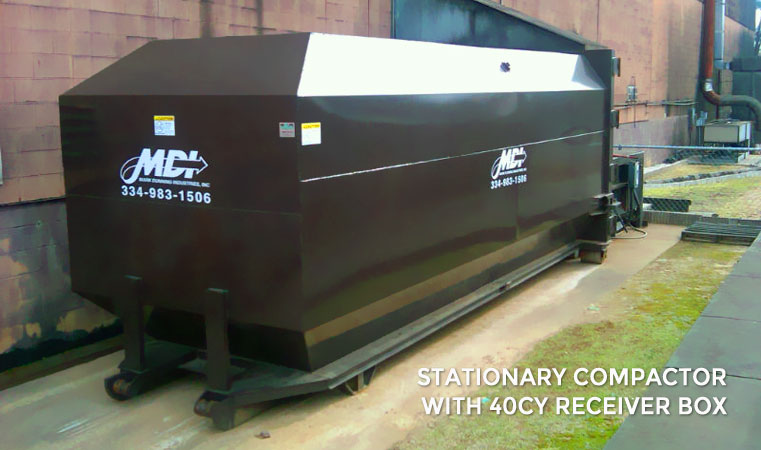 MDI Stationary Compactor with 40CY Receiver Box