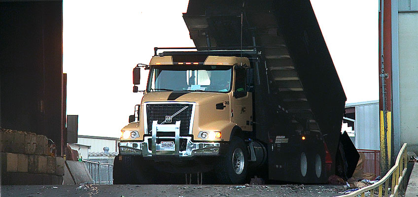 MDI Roll-off Truck at Work