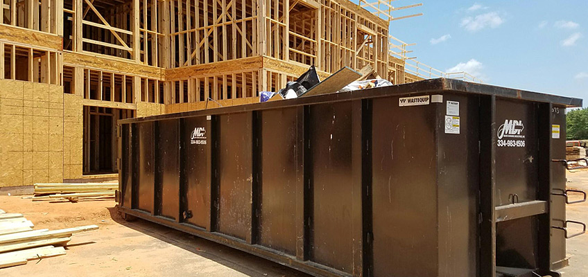 MDI Roll-off Container Service is perfect for construction debris collection and removal