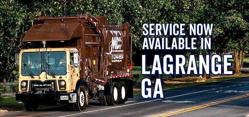 MDI now offers waste removal services in Lagrange, GA