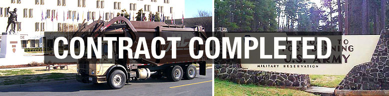 Front Load Service for Fort Benning Contract Completed