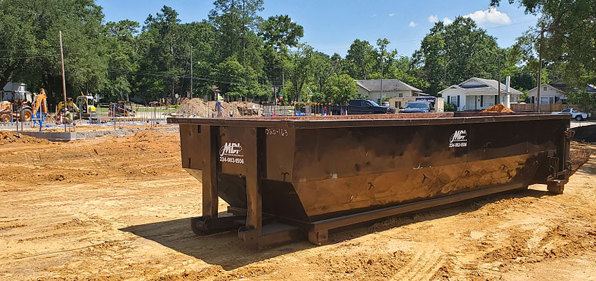 MDI 20 Yard Roll-off Container on site